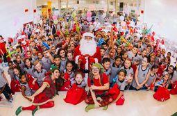 Crianças carentes ganham festa e presentes de Natal em Criciúma