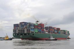 Nova bacia de evolução do Complexo Portuário de Itajaí recebe primeiro teste com navio...
