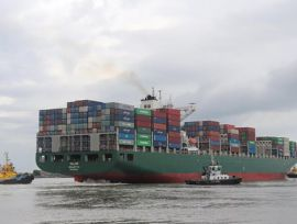 Nova bacia de evolução do Complexo Portuário de Itajaí recebe primeiro teste com navio de 300 metros