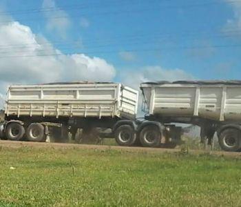 PM multa excesso de peso em rodovias de Maracajá