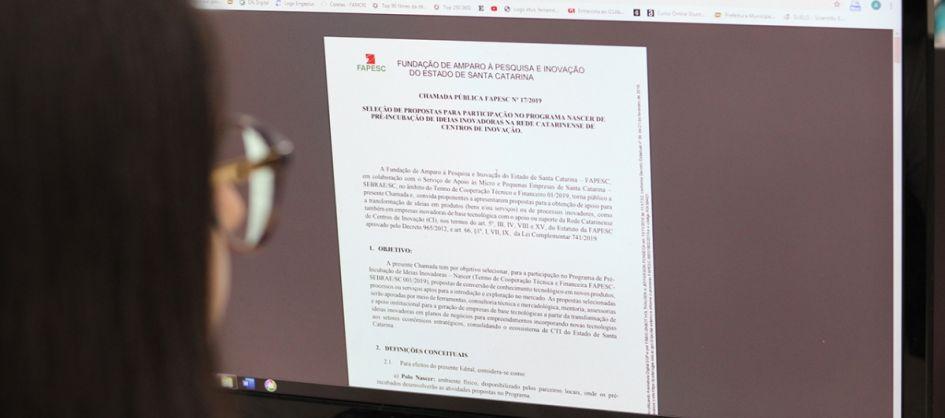 Criciúma é parceira da Fapesc no Programa Nascer