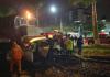 Trem se choca com carro no centro de Içara