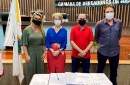 Palmira Afonso e Milene Garcia estarão por 30 dias na Câmara de Vereadores