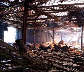 Incêndio destrói estufa de fumo em Maracajá