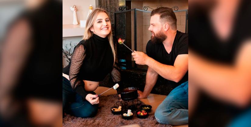 Família vai aumentar: Giorgia e Guilherme = Enrico