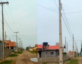 Moradores de Balneário Gaivota reclamam que pagam a taxa de iluminação pública e não ...