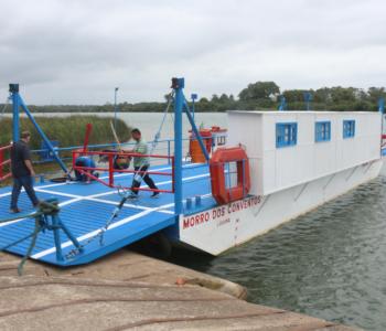 Balsa do rio Araranguá está em funcionamento