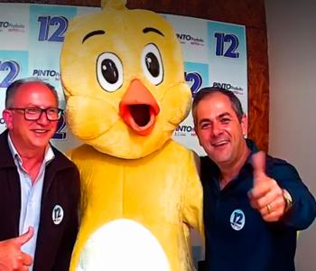 Mascote da campanha de Pinto e Nito é apresentado em live