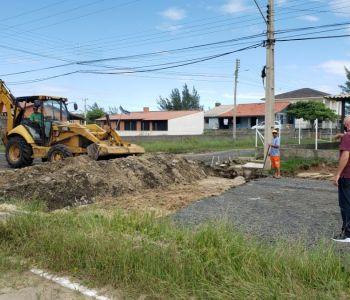 Obra retomada na Avenida Beira Mar Norte