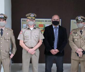 Criciúma: Presidente da Câmara participa de troca de comando do 9º Batalhão de Polícia Militar